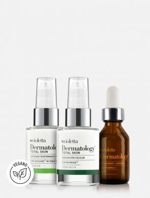 Set 2 Cremas Dermatology Total Skin + Suero Vitamina C ¡de regalo!