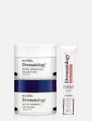 Set Crema Día y Noche + Contorno de Ojos Dermatology