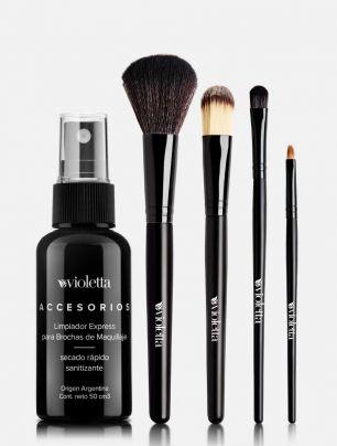 Set de Brochas de Maquillaje + Limpiador de Regalo