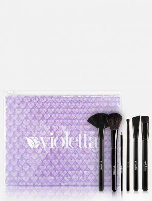 Set 6 brochas Violetta + Neceser Grande