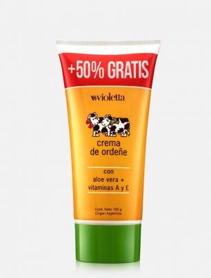 Crema de ordeñe 50% más