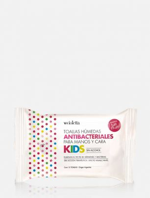 Toallas antibacteriales para manos sin Alcohol KIDS