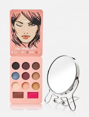 Combo Set de Maquillaje Classic  + Espejo Doble Aumento