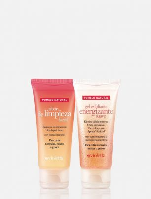 Set Jabón Limpieza Facial + Gel Exfoliante Pomelo Natural