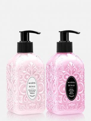 Combo Jabón Líquido + Crema de Manos y Cuerpo Rosas