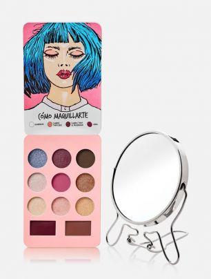Combo Set de Maquillaje Trendy + Espejo Doble Aumento